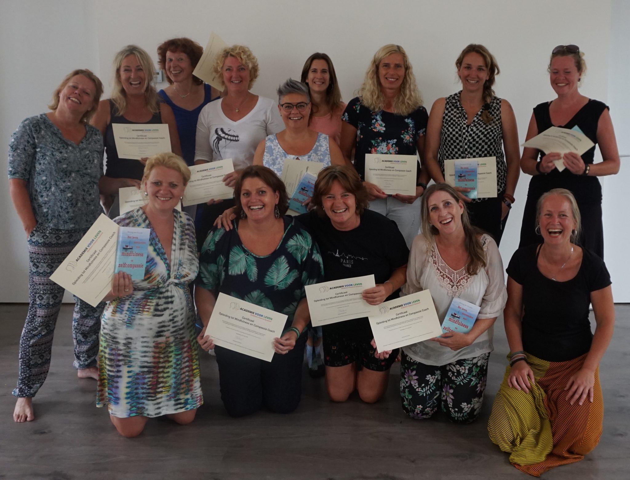 Afgestudeerden van de Opleiding Mindfulness en Compassie Coach en Trainer